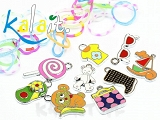 CHARMS zestaw DO BRANSOLETEK - LOOM BANDS  - 3